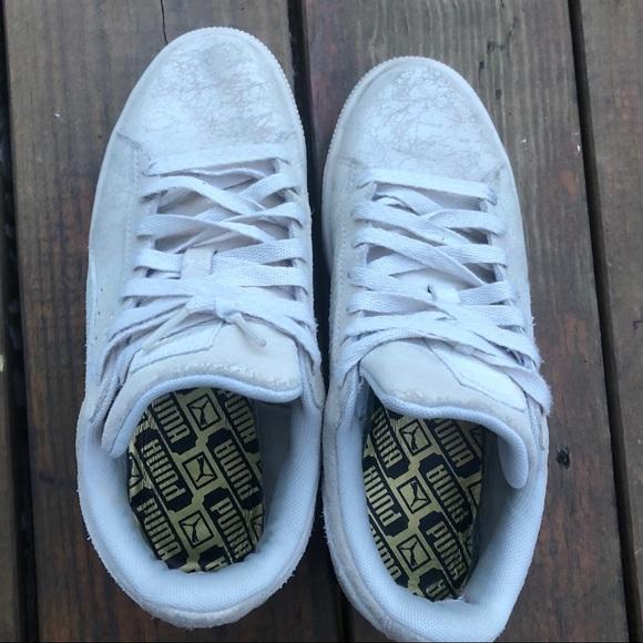 "RARE Puma Suede Classic ""Remaster"" Cracked Shoes 7"